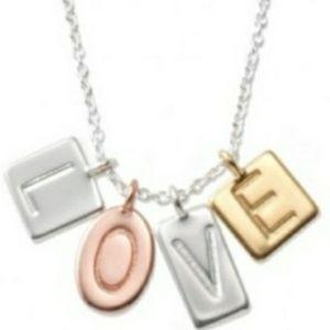 Stella & Dot LOVE necklace, sterling silver NEW